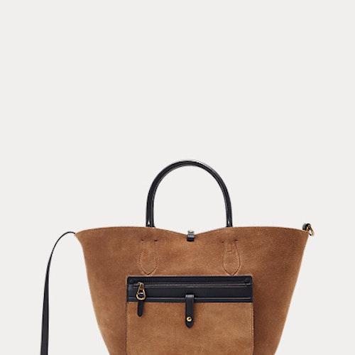Polo Ralph Lauren - Leather Medium Bellport Toten - Black