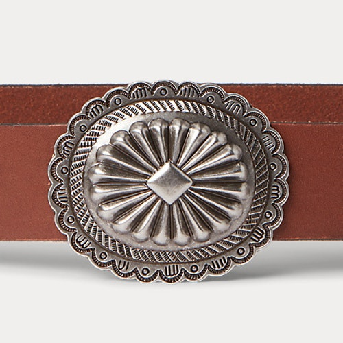 Ralph Lauren - Leather Concho Wide Belt - Cuoio