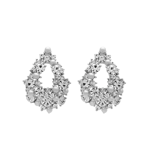 Lily and Rose - ALICE PEARL EARRINGS – DOVE GREY