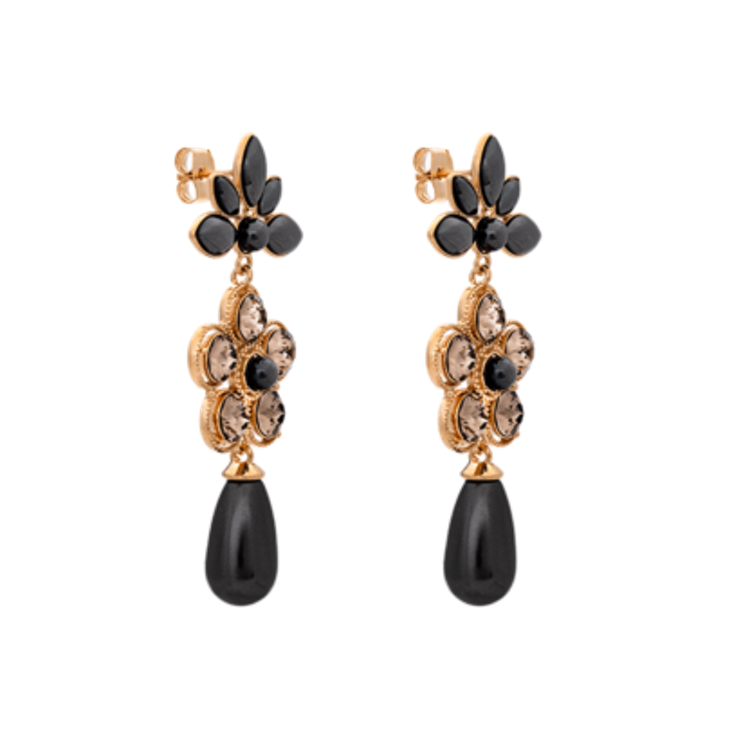 Lily and Rose - AURORA PEARL EARRINGS – BLACK PEARL