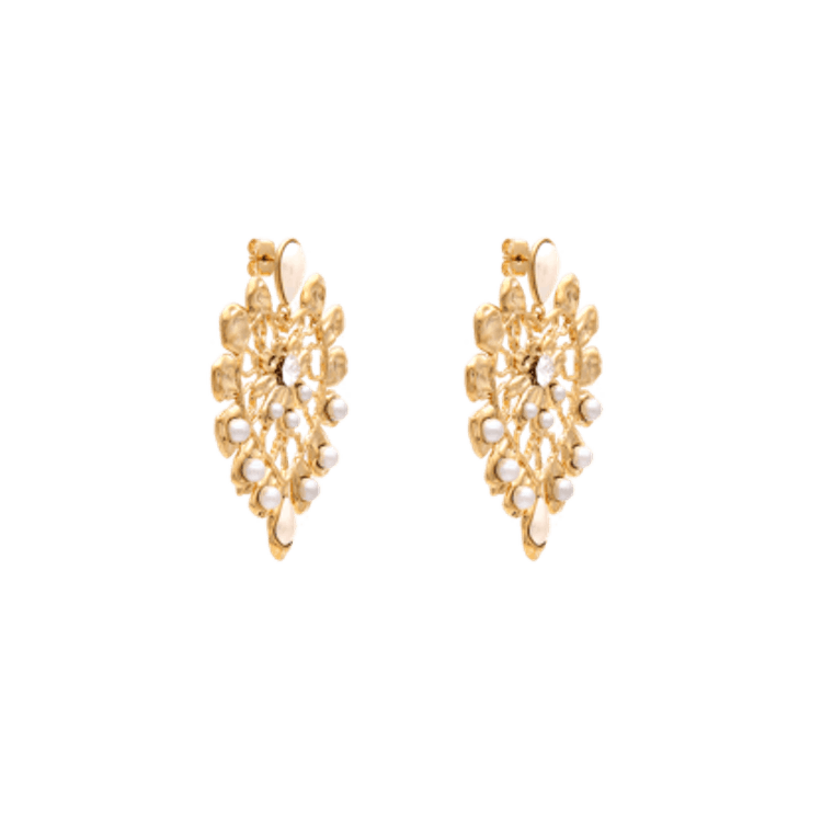 Lily and Rose - EDITH EARRINGS – IVORY AND PEARL