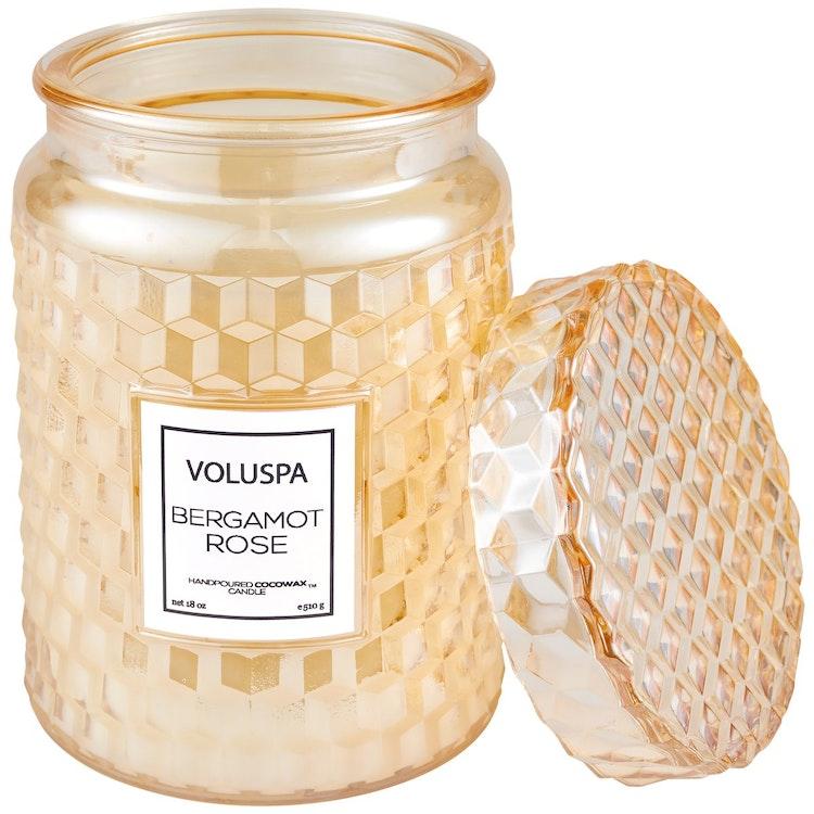 Voluspa - Bergamot Rose - Large Jar Candle