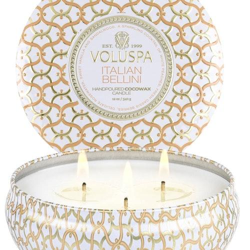 Voluspa - Italian Bellini - 3 Wick Tin Candle