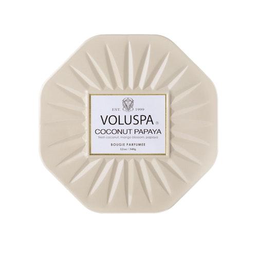 Voluspa - Coconut Papaya - 3 Wick Octagon Tin Candle