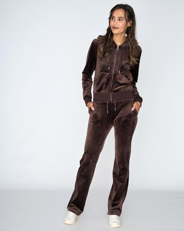 Juicy Couture - Classic Velour Robertson Zip Hoodie - Java