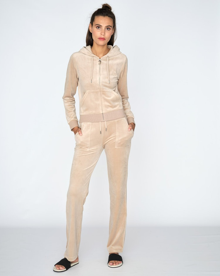 Juicy Couture - Classic Velour Del Ray Pant - Warm Taupe