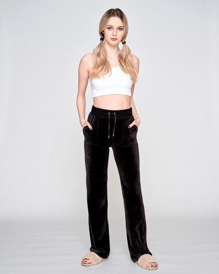 Juicy Couture - Classic Velour Del Ray Pant - Black