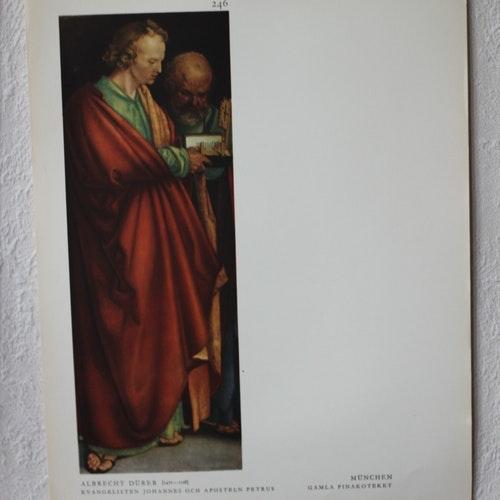 Bibelbild - Evangelisten Johannes och Aposteln Petrus