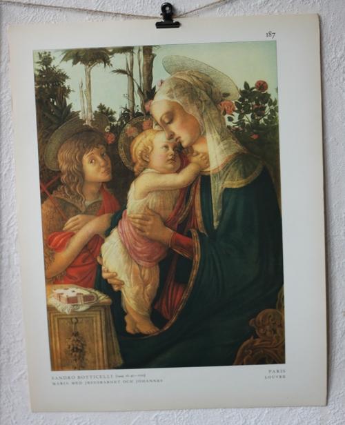 Bibelbild - Maria med Jesusbarnet och Johannes