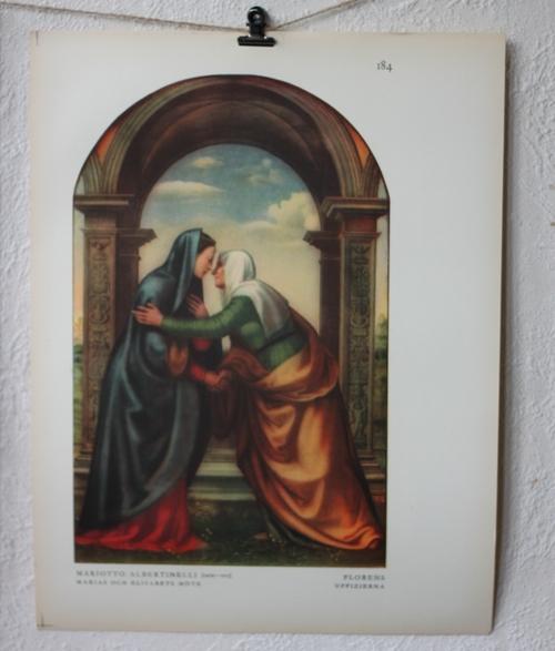 Bibelbild - Maria och Elisabeths möte