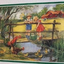 Pappersbonad - Barn på Bron