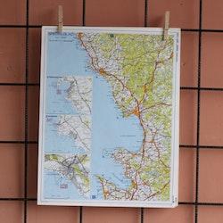 Karta - Hallandskusten utom Kungsbacka