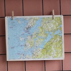 Karta - Lysekil, Gullmarn, Norra Orust