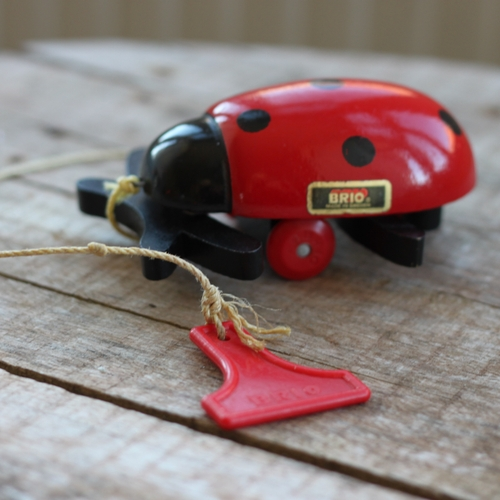 Dragleksak - Nyckelpiga Röd Svart