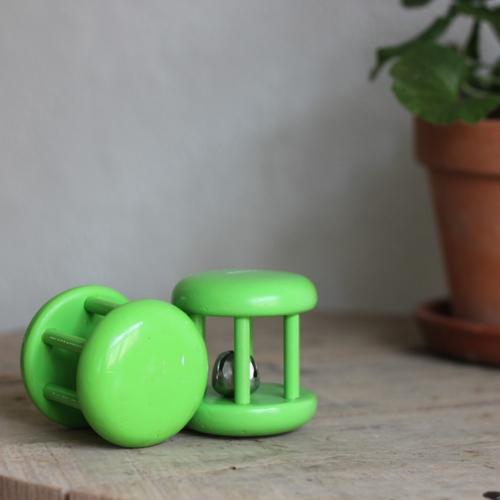 Skramla - Grön med Bjällra