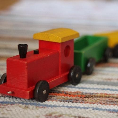 Dragleksak - Tåg Mångfärgat