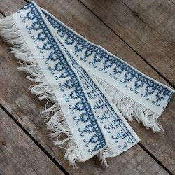 Textil - Hyllbård Blå Vit