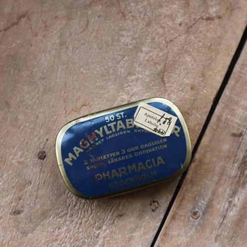 Plåtburk - Mörkblå