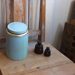 Plåtburk - Kaffeburk Ljusblå