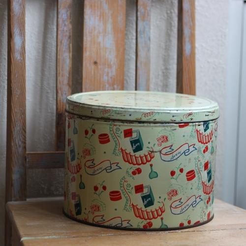 Plåtburk - Mintgrön Mönstrad