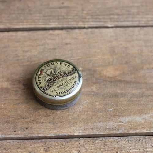 Plåtburk - Liten Dekor på Locket Guld Plåtren