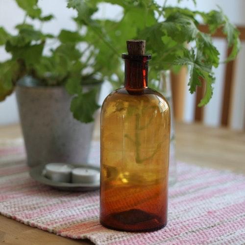 Flaska - Brun med Kork