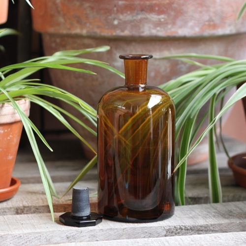 Flaska - Apoteksflaska Brun med Glaspropp