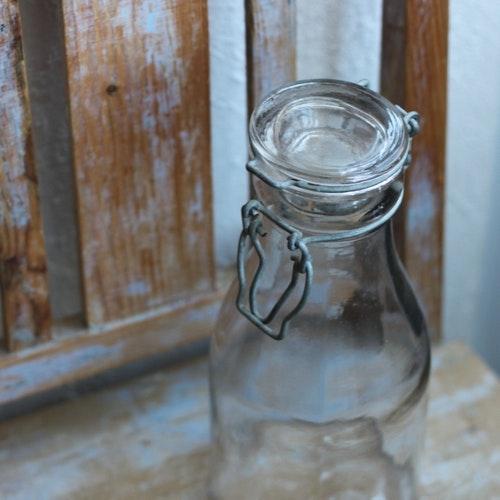 Flaska - 1l Mjölkflaska med Glaslock