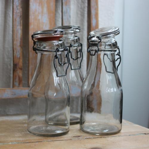 Flaska - 3/4l Mjölkflaska med Glaslock