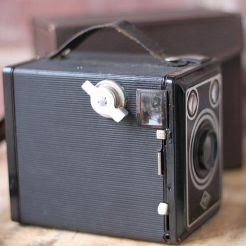 Inredning - Kamera Metall med Brun Väska