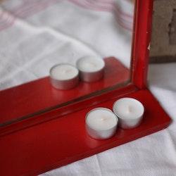 Inredning - Spegel med Hylla Röd Ram