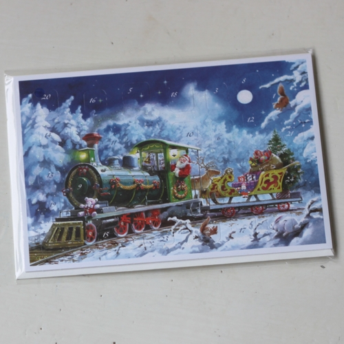 Adventskalender - Tomten kör tåg, Kort med Kuvert