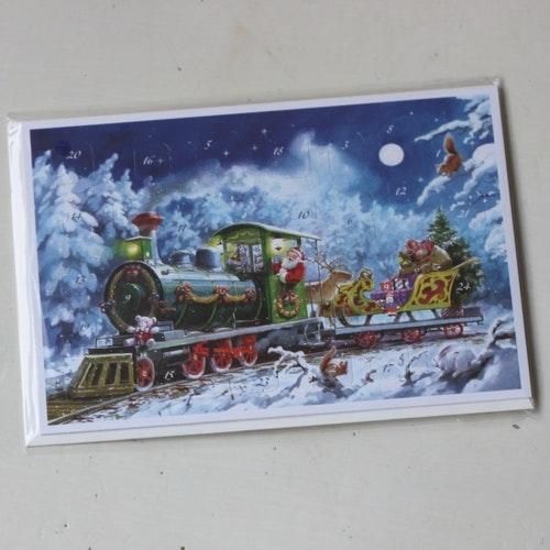 Adventskalender - Tåg Kort med Kuvert