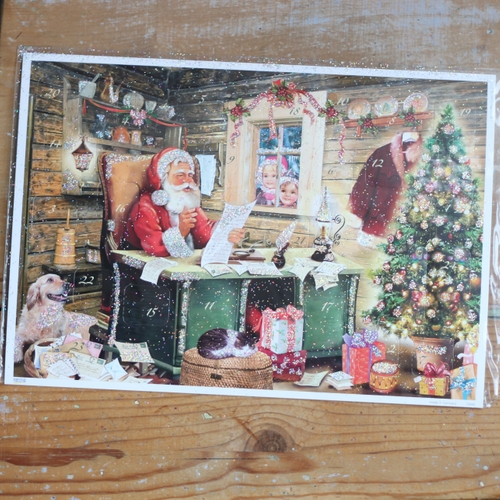 Adventskalender - Tomte vid Skrivbord Kort med Kuvert