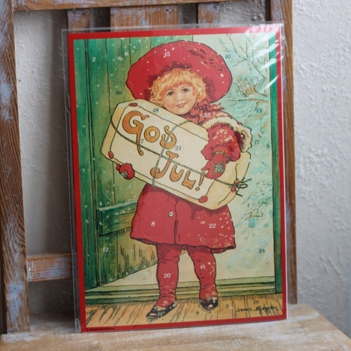 Adventskalender - Flicka med Paket