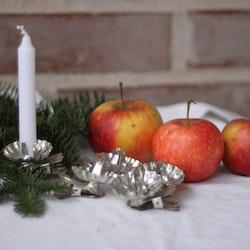 Ljushållare - För Julgransljus modell Tre blomblad