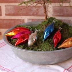 Julgranskulor - Elipser blandade färger