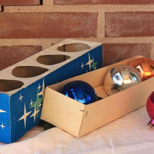 Julgranskulor - Blå Rosa Silver Koppar