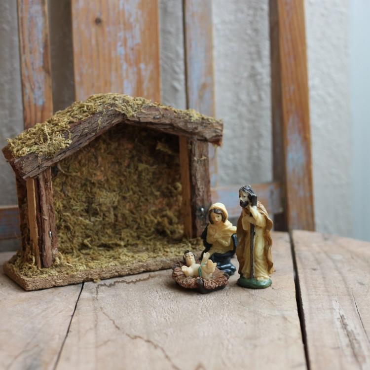 Julkrubba - Mindre med Lösa Figurer