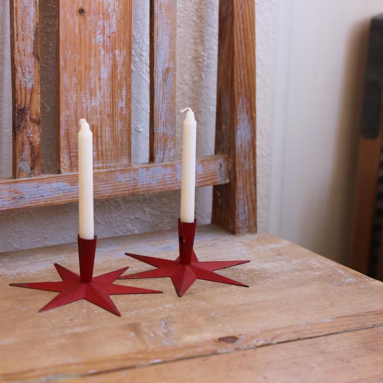 Ljusstakar - Röda Stjärnor