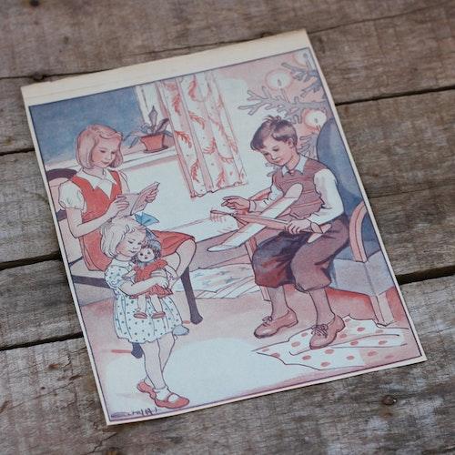 Barnkammarbild - 44 Öppnade julklappar
