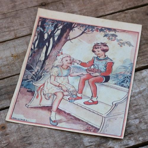 Barnkammarbild - 38 Prins, Prinsessa och körsbär