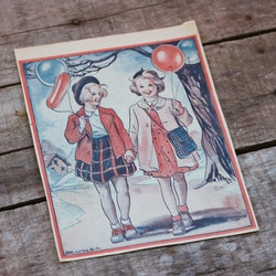 Barnkammarbild - 37 Flickor med ballonger