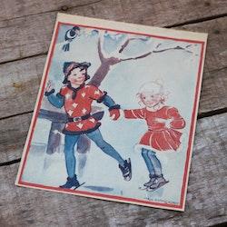 Barnkammarbild - 36 Barn åker skridsko