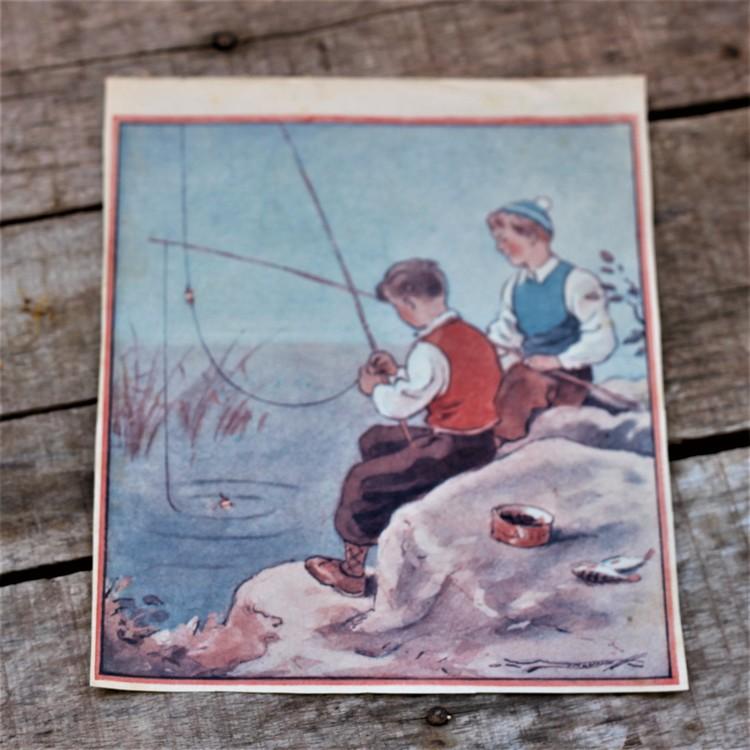 Barnkammarbild - 25 Pojkar som fiskar