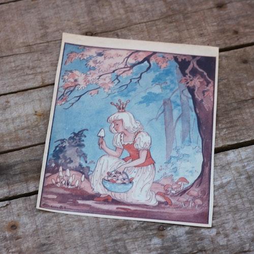 Barnkammarbild - 22 Prinsessa plockar svamp
