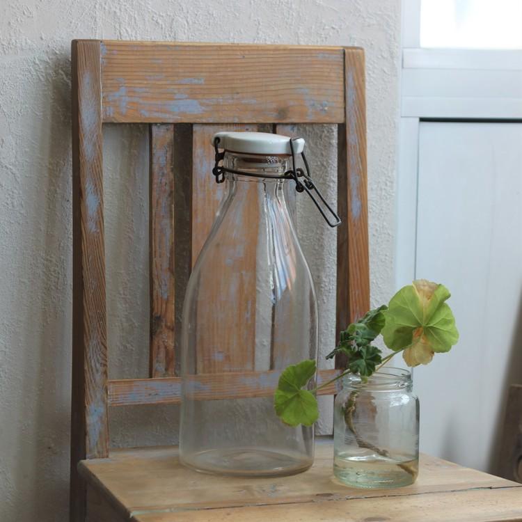 Flaska - 2l Mjölkflaska med Vitt Porslinslock