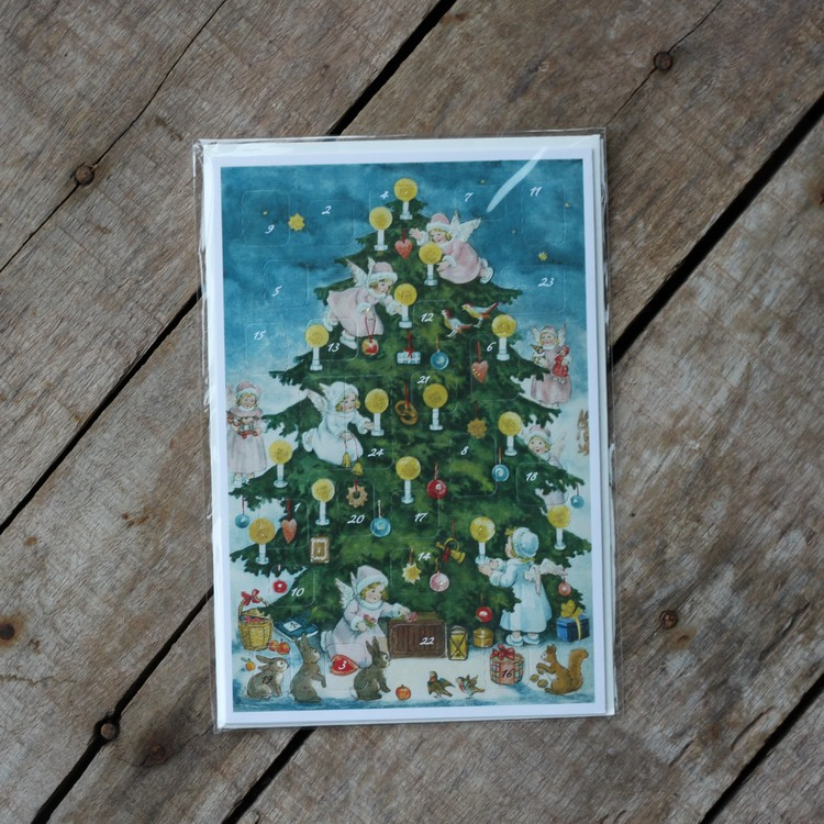 Adventskalender - Änglar i Granen, Kort med Kuvert