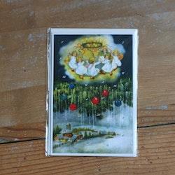 Adventskalender - Änglar i Ringdans, Kort med Kuvert