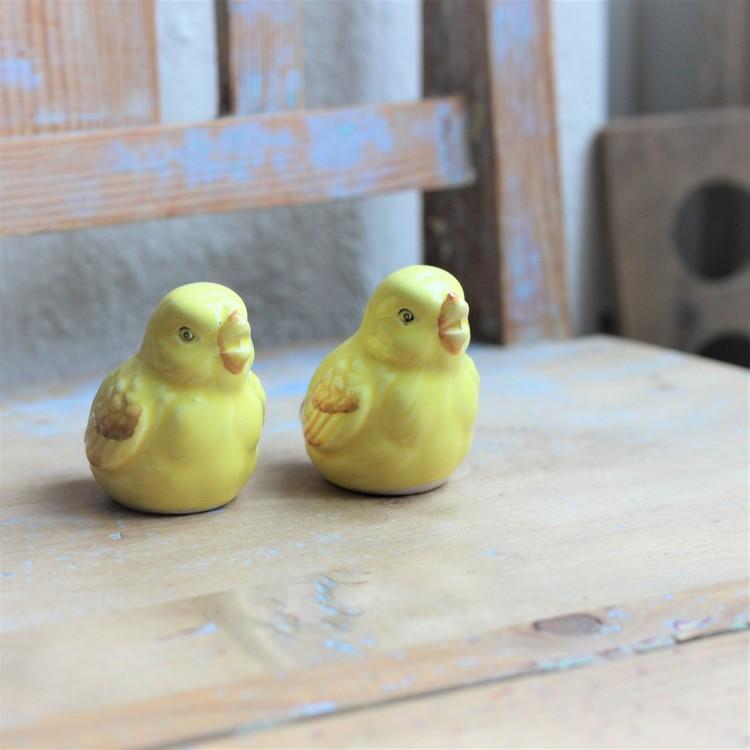 Kycklingar - Salt och Pepparmått Porslin